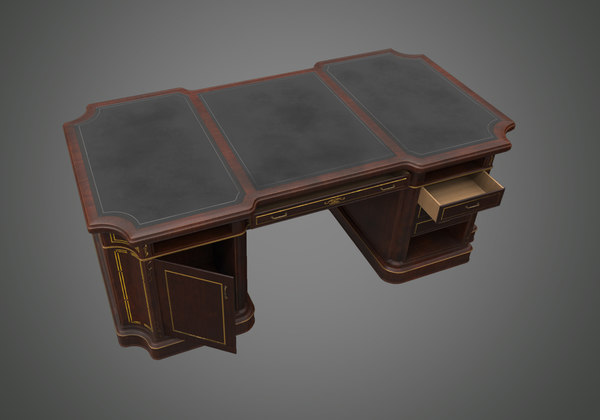 wooden writing table model