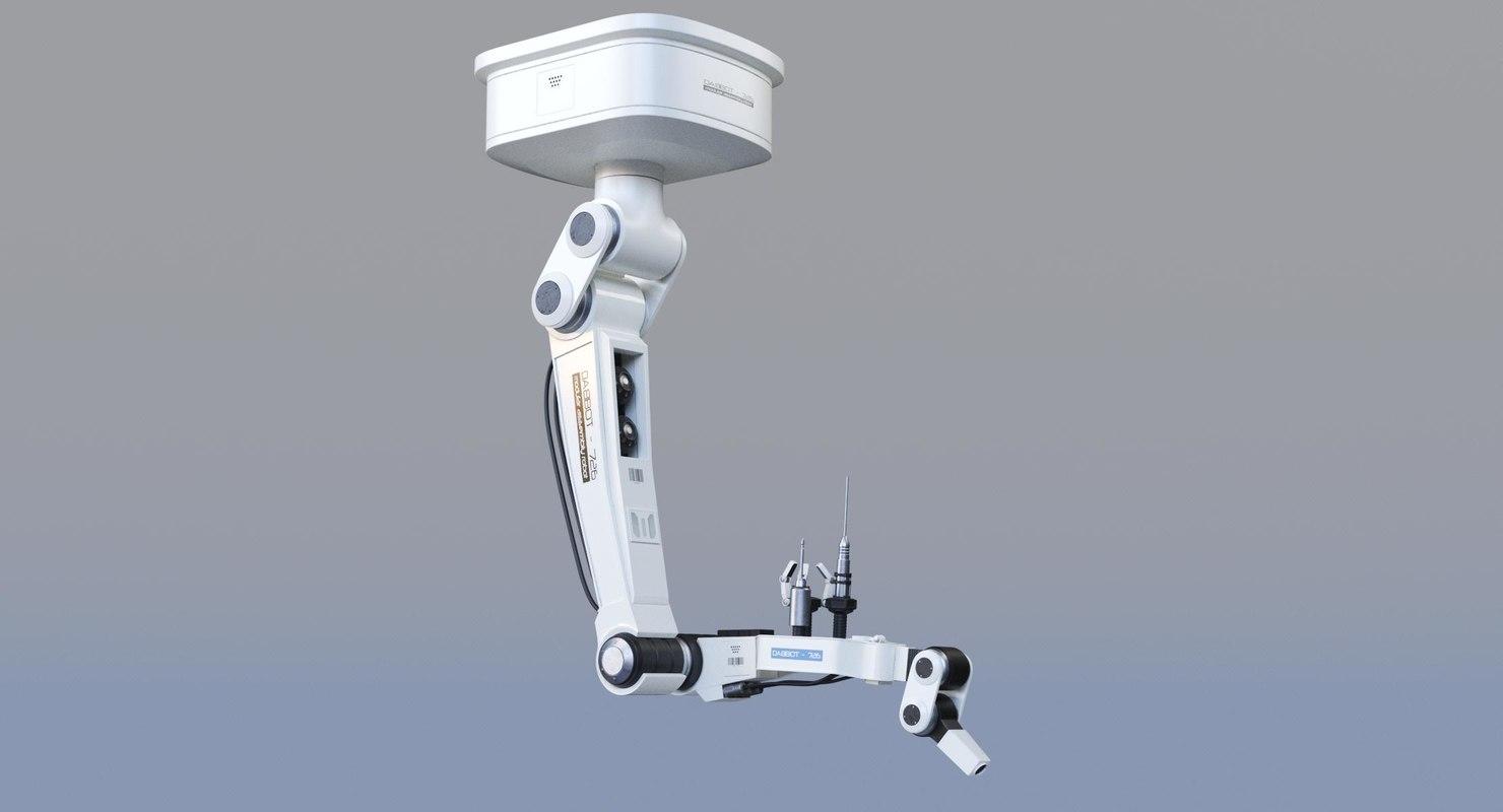 futuristic robotic arm 3D model