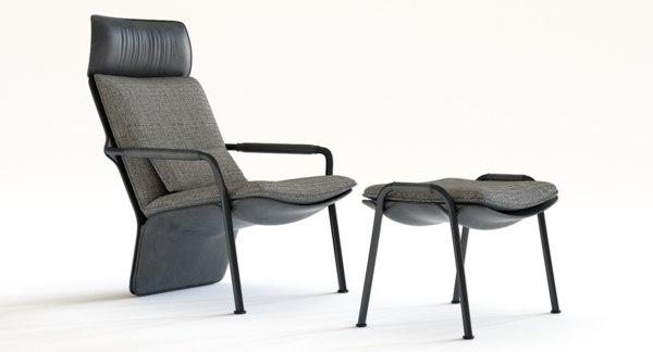 armchair pouf arabesques frau model