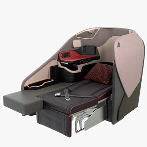 3D business airplane seat singapore model