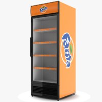 3D model fanta fridge