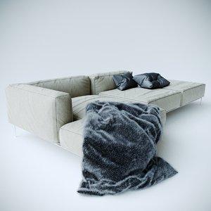 frank sofa antonio citterio 3D model
