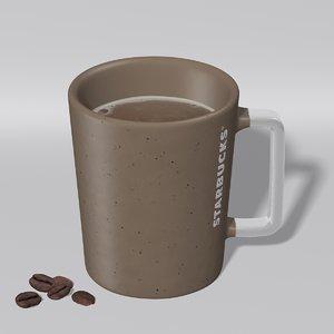 3D starbucks mug
