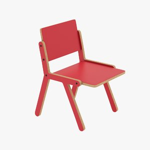 3D lolly chair model