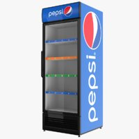 pepsi display refrigerator 3D