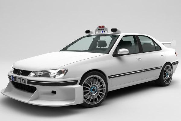 3D peugeot 406 taxi