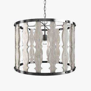 3D model pendant light hourglass