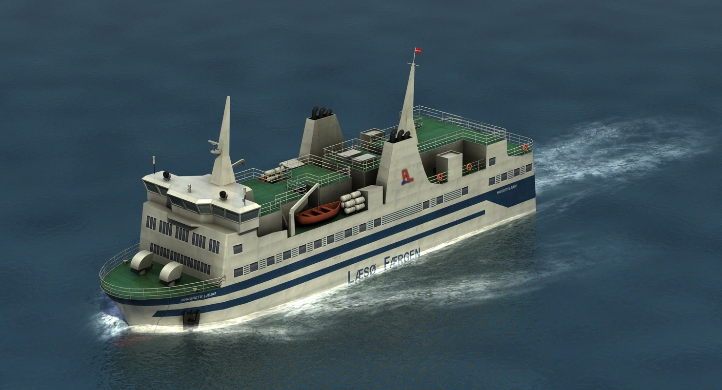 3D north sea ferry
