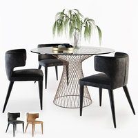3D table chairs melrose