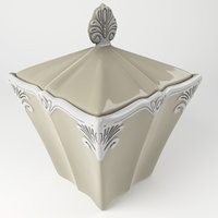 3D baroque sugar bowl model