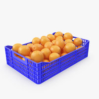orange plastic crate 3D model