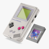 nintendo gameboy cartridge 3D model