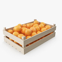 Orange Wooden Crate