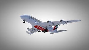 airplane emirates 3D