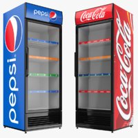 pepsi cola fridge 3D model