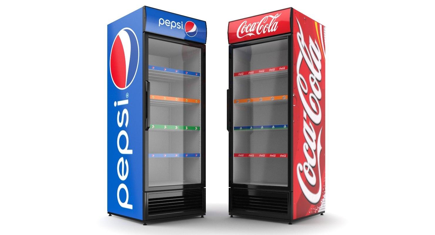 Pepsi And Cola Display Refrigerator