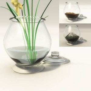 glass jar fills 3D