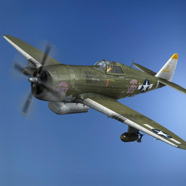 3D republic p-47d thunderbolt -
