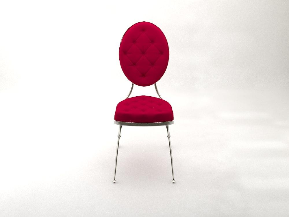 3D vintage chair model