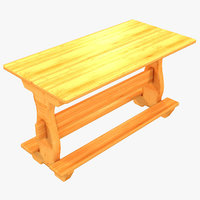 3D country sweden style dining table