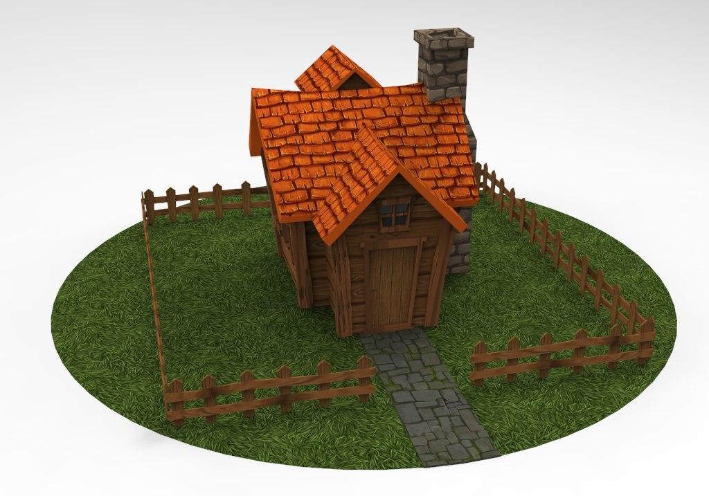 cartoon house - ready model