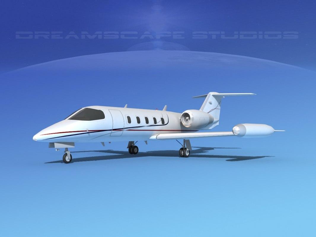 3D learjet 35 business jet