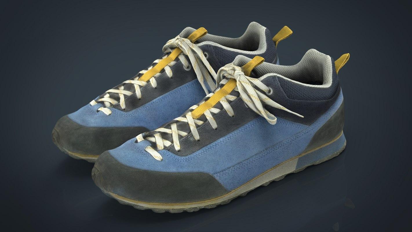 3D trekking sneakers model
