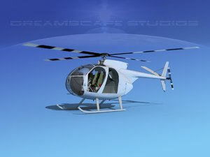rotors hughes oh-6 cayuse 3D model