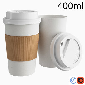 3D takeout paper coffee cup model