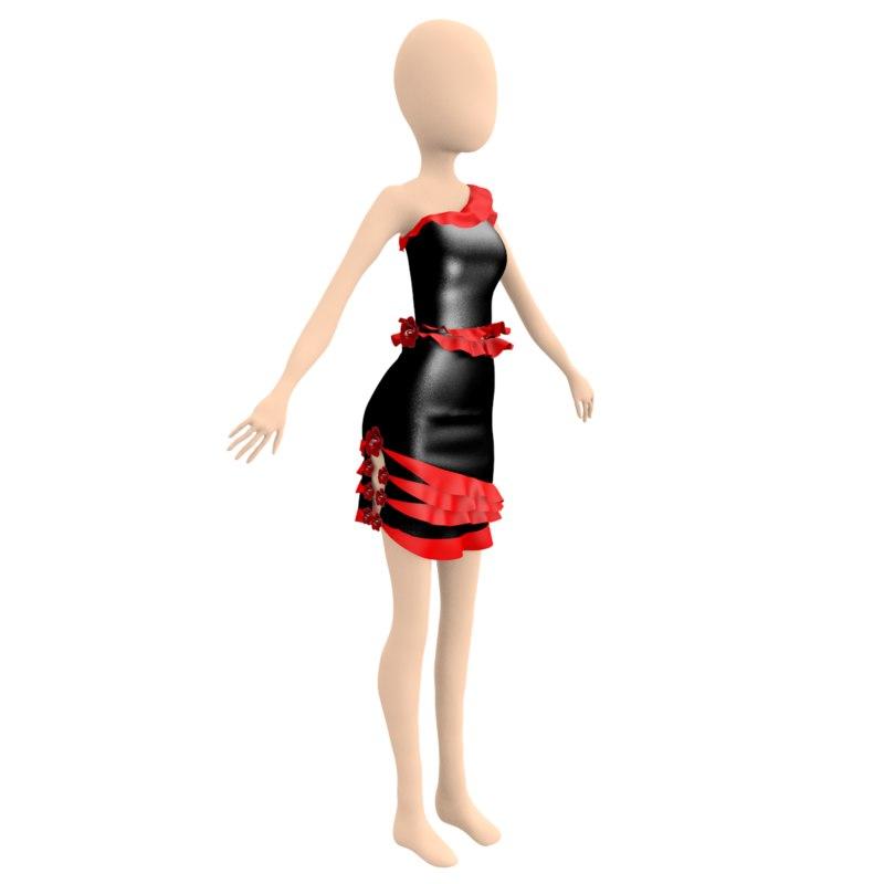 3D salsa dress