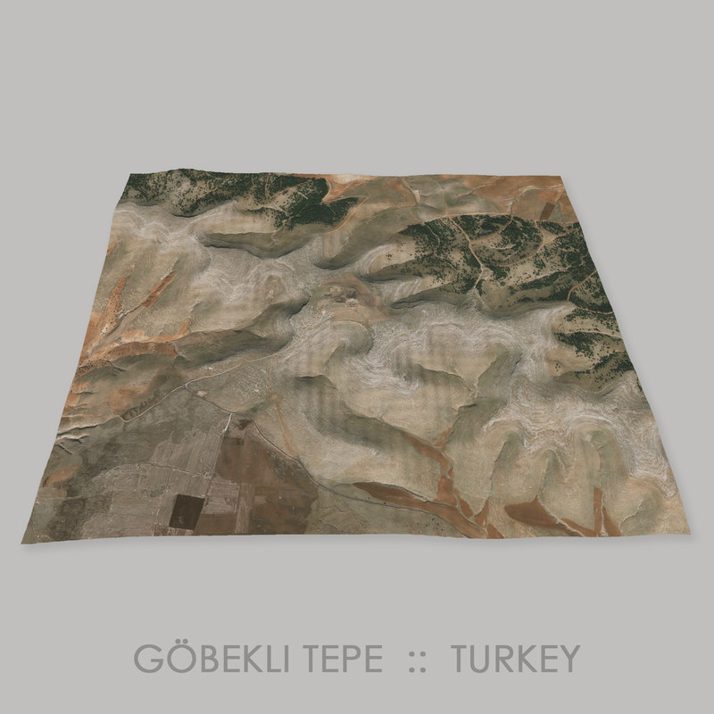 gbekli tepe megalithic complex 3D model