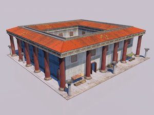 classical greek house 3D model