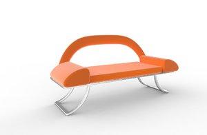 3D stylish office chair-sofa model
