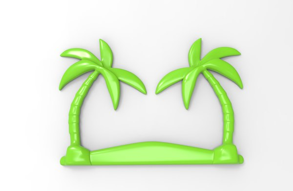 printable palm tree relief 3D model