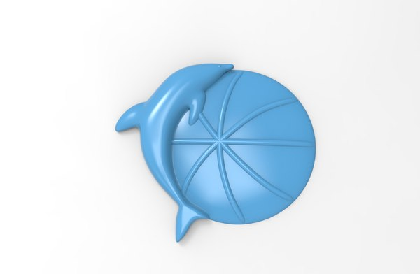 3D model printable dolphin relief