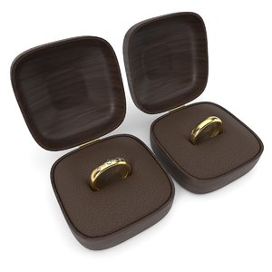 wedding rings boxes model