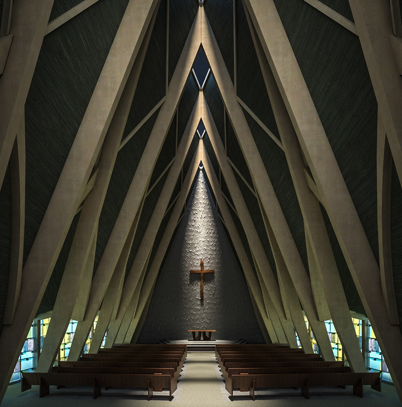 church interior 3D model