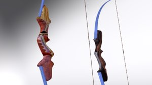 3D model takedown recurve bows