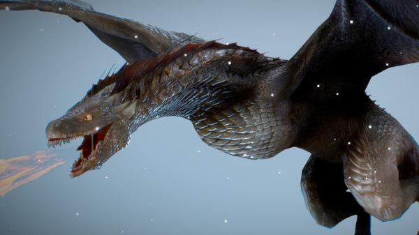 drogon dragon thrones 3D model