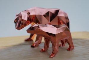 3D polar bears model