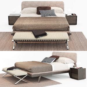 bed upholstered 3D model