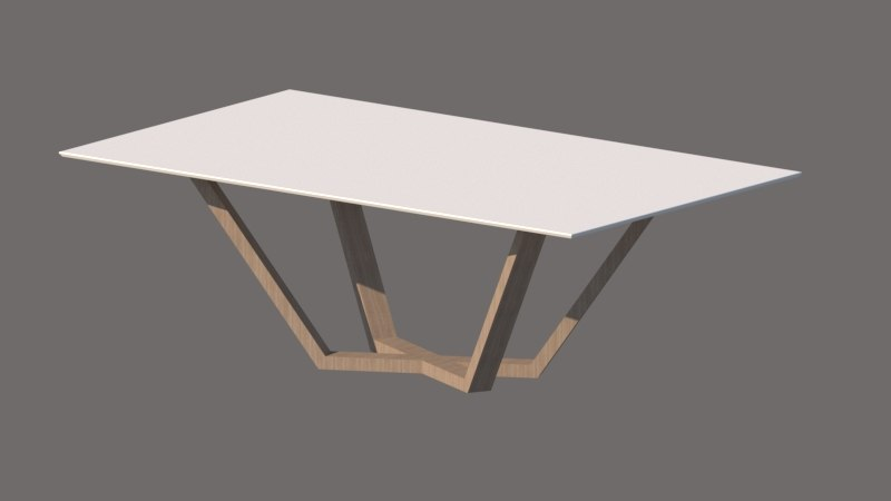 3D nordic wooden table