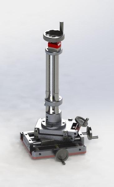 3D axis fine-tuning mechanism model