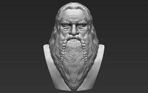 gimli lord rings bust 3D model