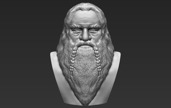 gimli lord rings bust 3D model