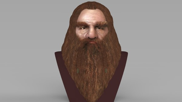 3D gimli lord rings bust