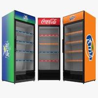 coca cola family fridges 3D model