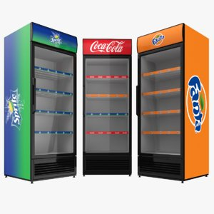 coca cola family fridges 3D model