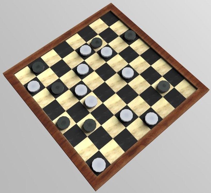 3D checker draughts