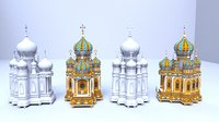 3D model cartoonish church
